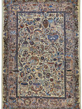 handgeknoopt tapijt Kasmar tapijt is verkrijgbaar bij Perez vloerkleden