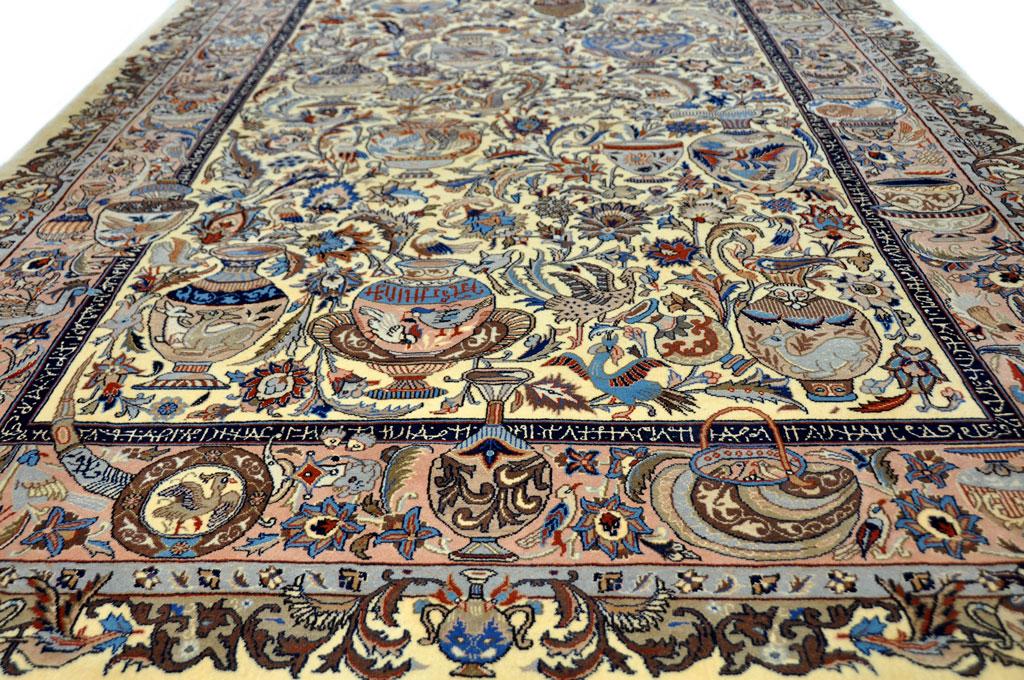 Handgeknoopt Tapijt Herkennen : Pers tapijt stunning vintage zeer sleets perzisch kashan tapijt x