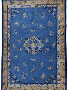 antiek Chinees blauw tapijt is verkrijgbaar bij Perez vloerkleden in Tilburg