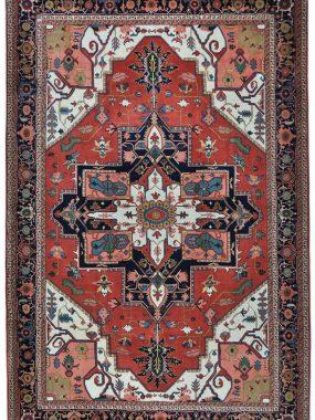 Handgeknoopt antiek tapijt Heriz Itta is verkrijgbaar bij Perez vloerkleden in Tilburg