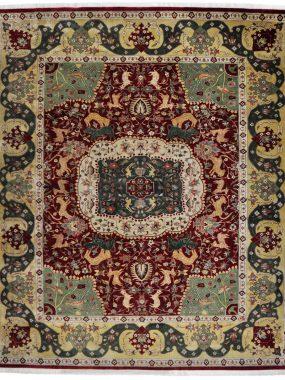 Antiek handgeknoopt Agra tapijt is verkrijgbaar bij Perez vloerkleden in Tilburg