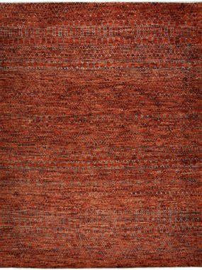 Velluto vloerkleed rood is handgemaakt van wol en verkrijgbaar bij Perez vloerkleden