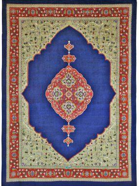 blauw wollen Tabriz tapijt i verkrijgbaar bij Perez vloerkleden in Tilburg