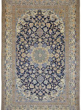 Nain tapijt beige blauw is verkrijgbaar bij Perez vloerkleden in Tilburg