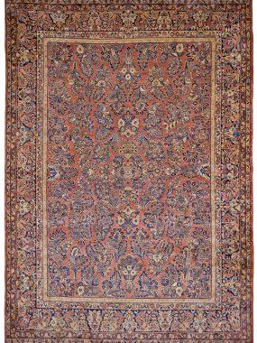 Sarouk tapijt is handgeknoopt en verkrijgbaar bij Perez Tilburg