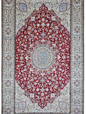 unieke Nain tapijt is handgeknoopt en verkrijgbaar bij Perez Tilburg