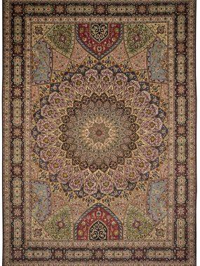 Uniek handgeknoopt wollen Ghombad tapijt is vkrijgbaar bij Perez vloerkleden in Tilburg