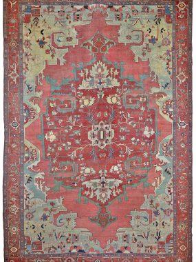handgeknoopt antiek Heriz tapijt si verkrijgbaar bij Perez vloerkleden in Tilburg