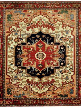 Handgeknoopt wollen Lambaran tapijt is verkrijgbaar bij Perez vloerkleden in Tilburg