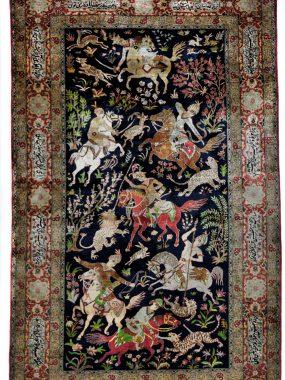 Antiek handgeknoopt zijde tapijt is verkrijgbaar bij Perez vloerkleden in Tilburg