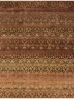 Vloerkleed Damask roest is handgeknoopt van zuiver scheerwol en is verkrijgbaar bij Perez vloerkleden in Tilburg