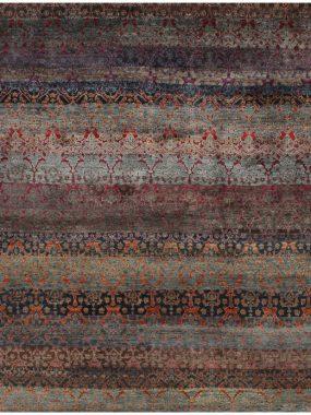 Tapijt Damask,multi is handgeknoopt van zuiver scheerwol en verkrijgbaar bij Perez vloerkleden.