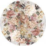 Rond vloerkleed met bloemen is verkrijgbaar in diverse kleuren en maten