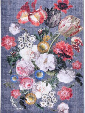 vloerkleed met bloemen in diverse maten en kleuren