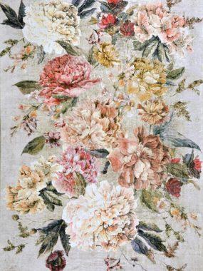 vloerkleed met bloemen verkrijgbaar in diverse maten en kleuren